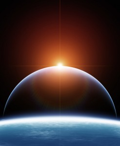 http://www.dreamstime.com/stock-image-two-planet-rising-star-image29298491