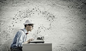 http://www.dreamstime.com/stock-image-young-man-writer-funny-glasses-writing-typewriter-image42032951