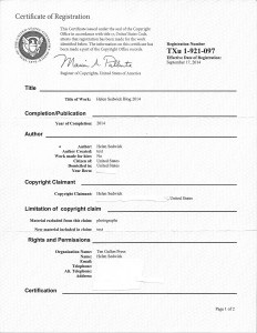 Copyright registration cert for blog 2014